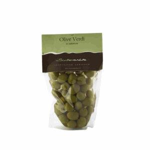 Grüne Oliven in Lake